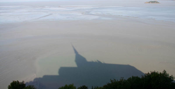 France  shadows Mont St Michel