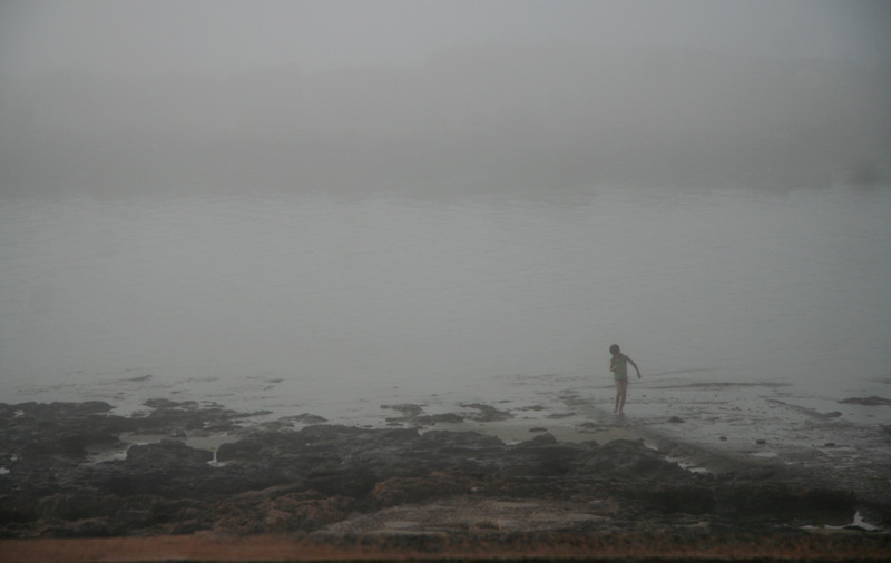 fog child seaside Morocco
