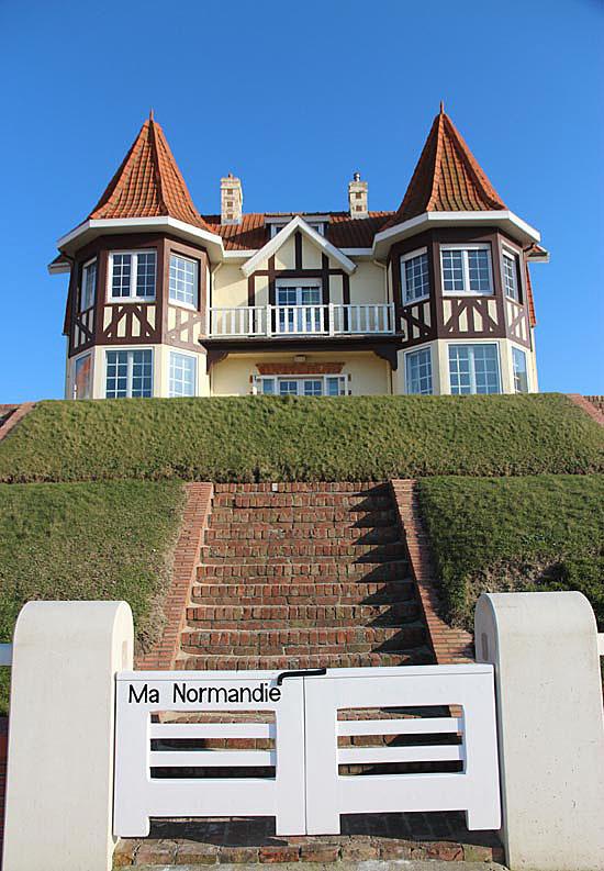 nostalgie normande sur plage flamande