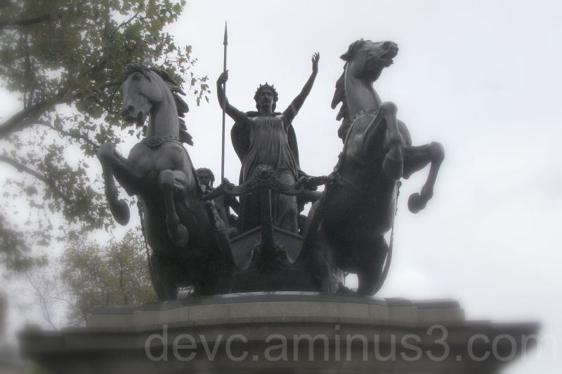 Statue of Queen Boudicca on the Thames Embankment