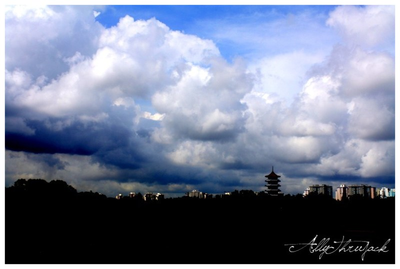 rolling clouds, chinese garden