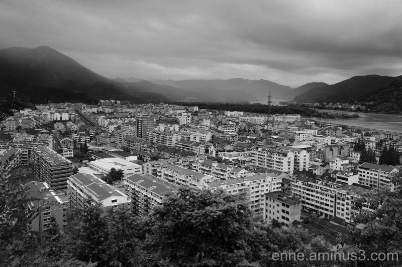 wenxi enhe photoblog 温溪 风光 远眺 黑白