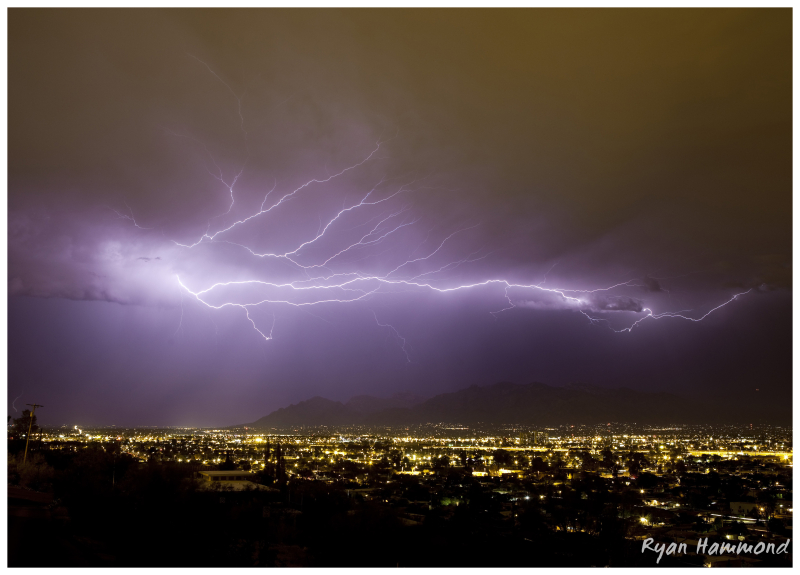 Lightning over Tucson