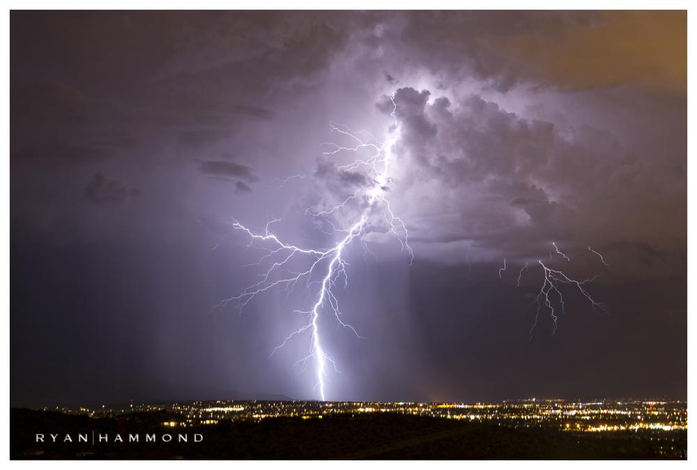 lightning, Tucson, Arizona, ryan hammond, monsoon