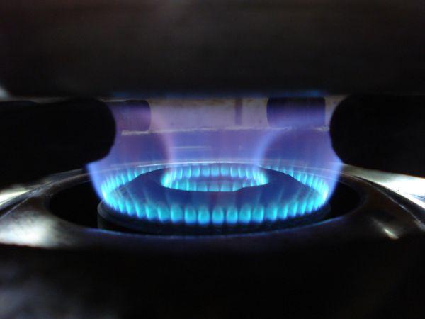 Blue flames..