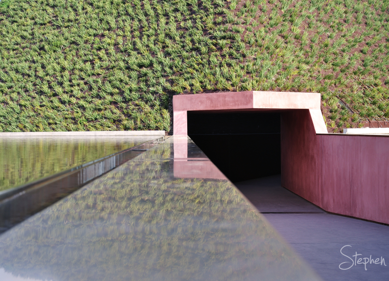 "Entrance to the ""Within without"" skyspace"