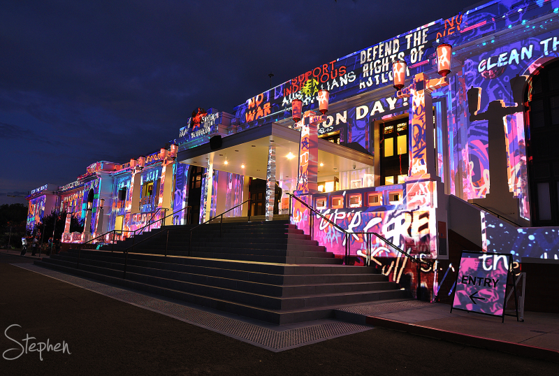 Enlighten Festival lights up Old Parliament House