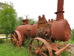 Rusty steam tractor