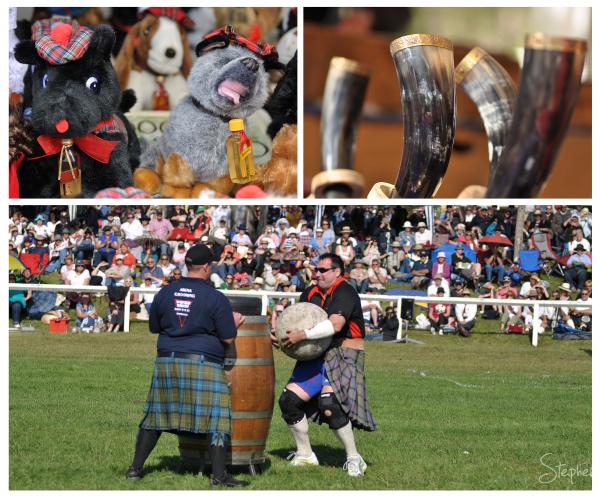 Lifting of the stones at Brigadoon Highland Games