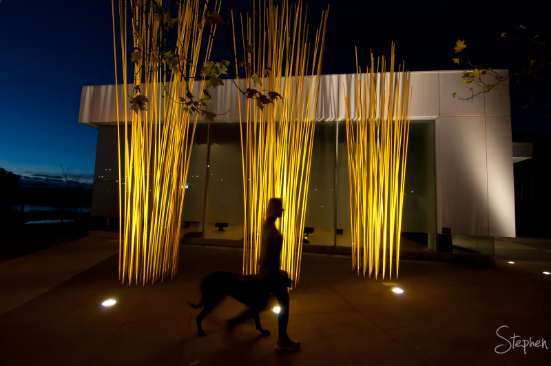 Light sculptures at the Belconnen Arts Centre