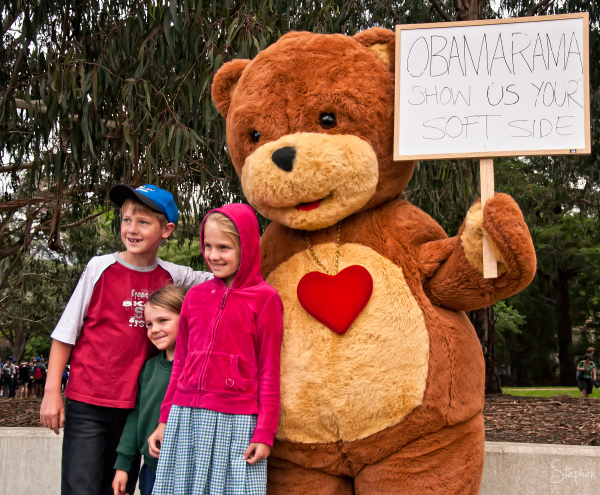 The bear with a message for President Obama