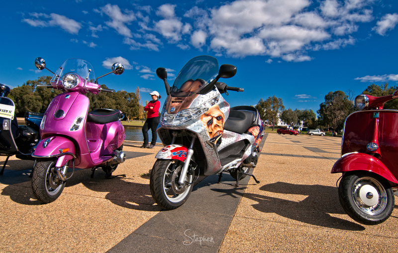 Bikes and scooters at Auto Italia in Canberra