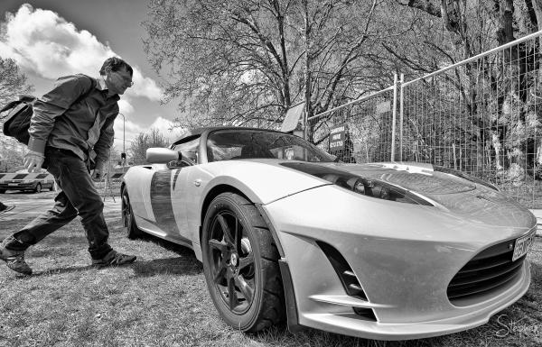 Tesla Roadster at Canberra Electric Car Show