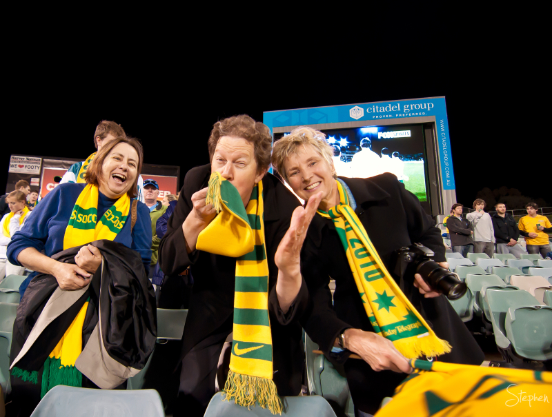 Socceroos fans at Canberra Stadium