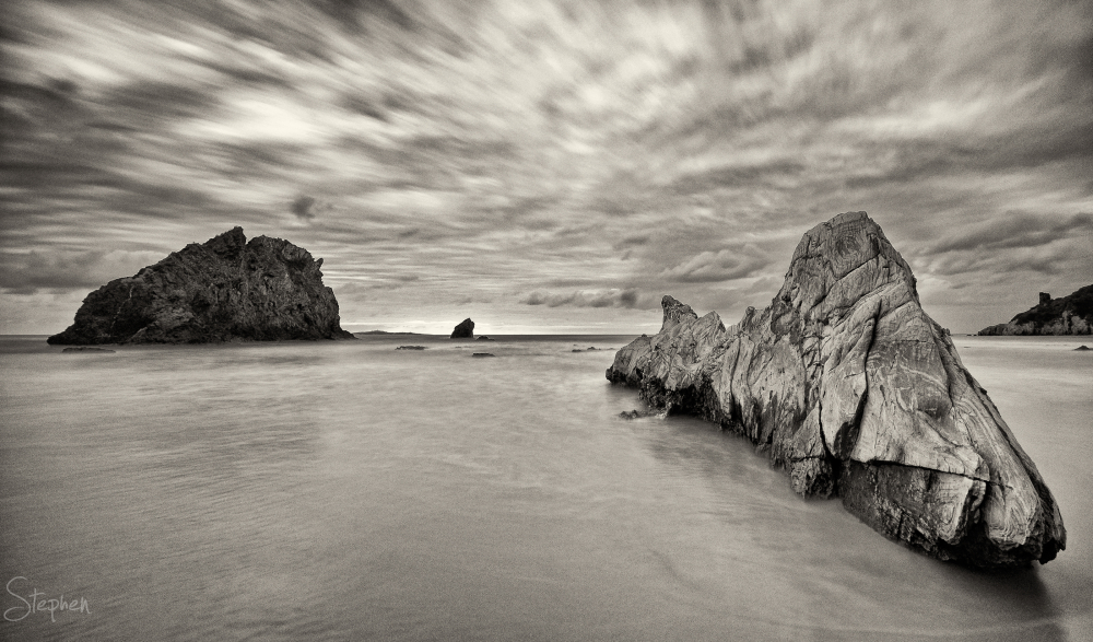 Rock formations at the Glasshouse Rocks
