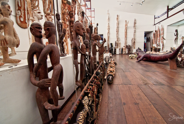 Asmat art in the Museum in Agats