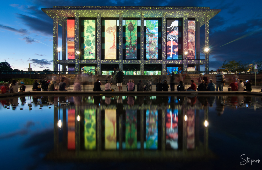 National Library lights up as part of Enlighten