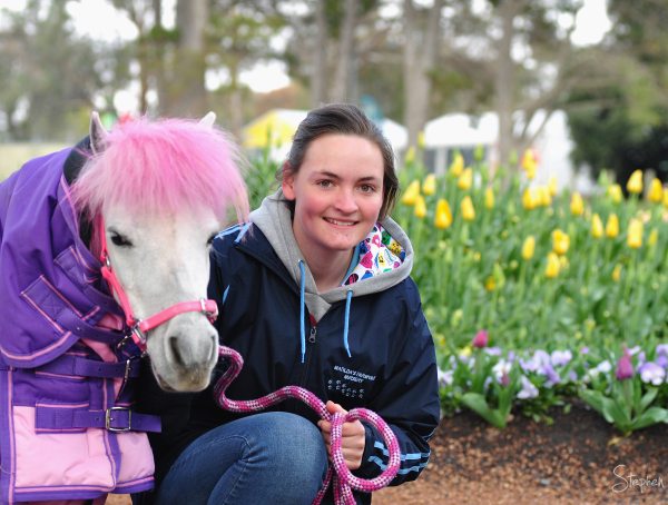 Matilda's Farmyard Nursery pink pony at Floriade