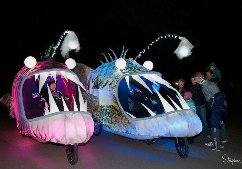 Angler Fish at Enlighten festival in Canberra