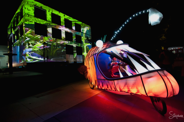Anglerfish at Enlighten festival in Canberra