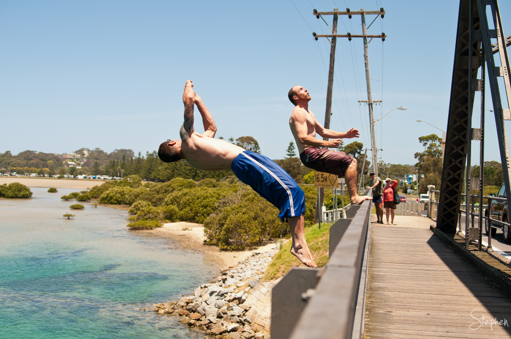 Dare you - bridge jumping at Narooma
