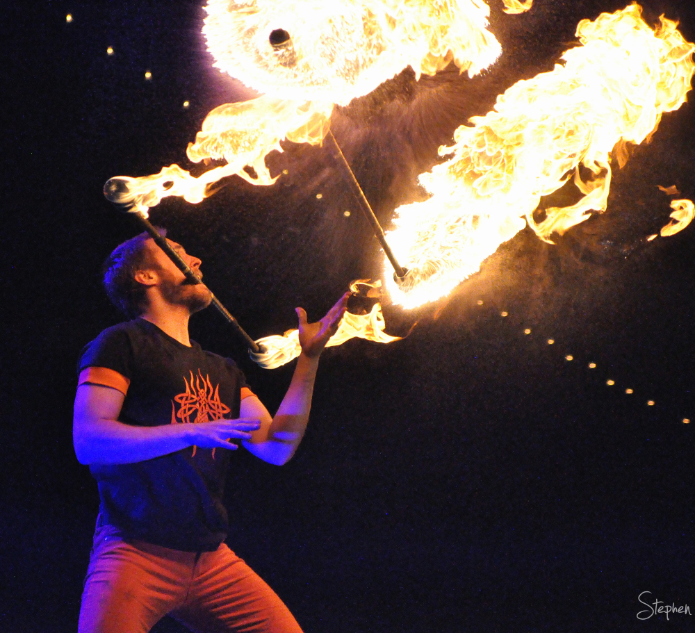 Fire stick juggling at Floriade NightFest
