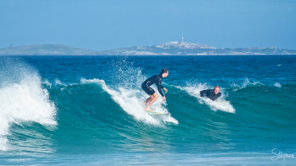 Surfs up at Kianga Beach
