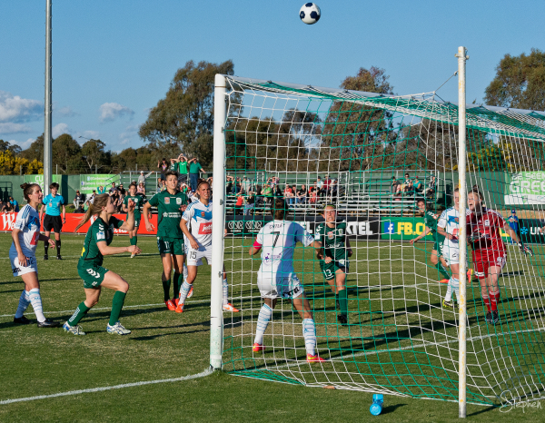 Canberra United in action at McKellar Park