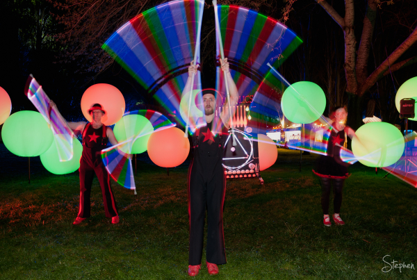 Cirquaholics LED light juggling at NightFest