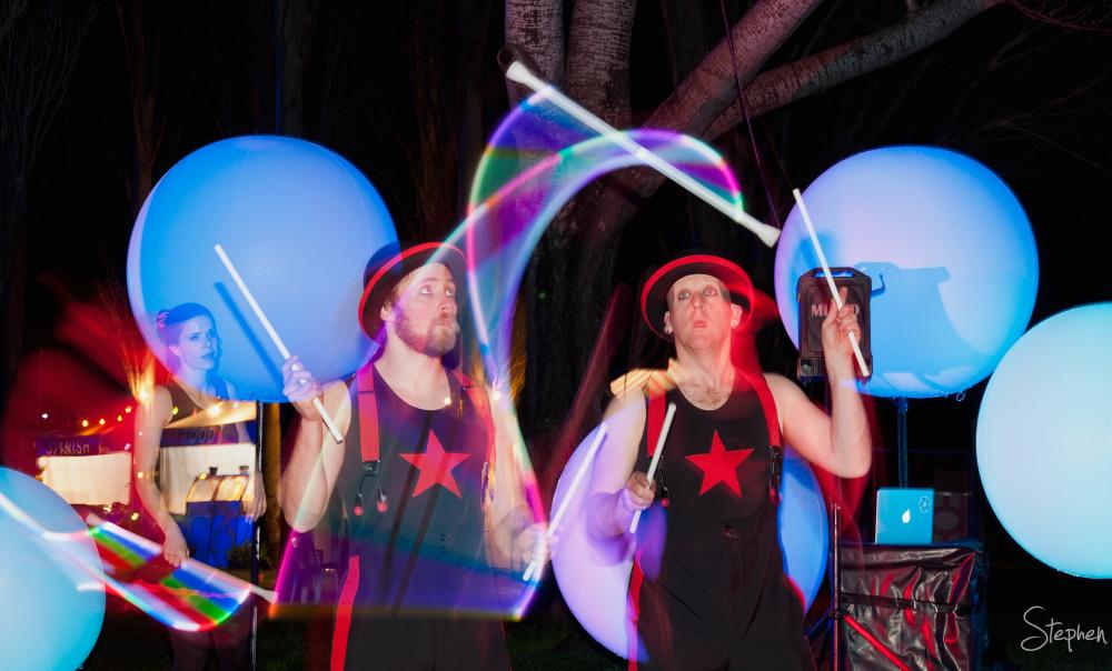 Cirquaholics LED light juggling at NightFest