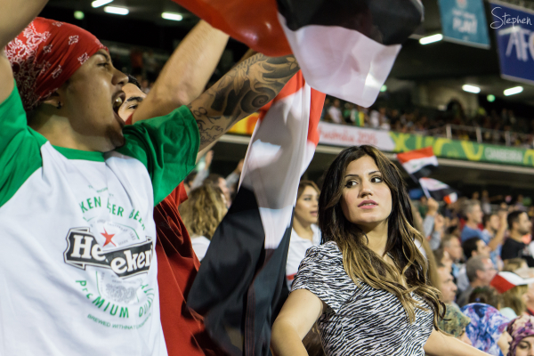Iraq fans at Asian Cup Australia 2015 Canberra