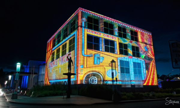 Questacon lights up for Enlighten festival
