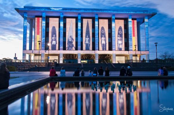 National Library of Australia lit up for Enlighten