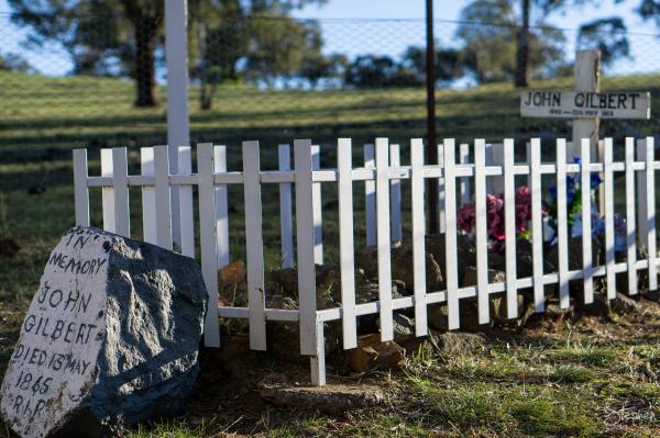 Grave of bushranger Johnny Gilbert in Binalong