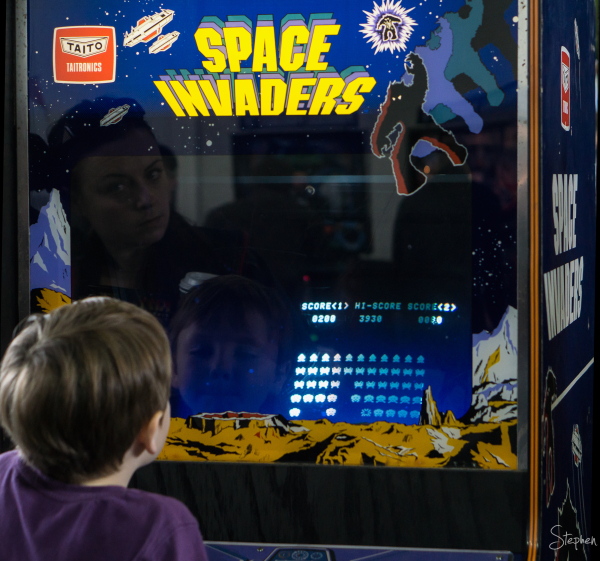 Space Invaders at Big Boys Toys Expo