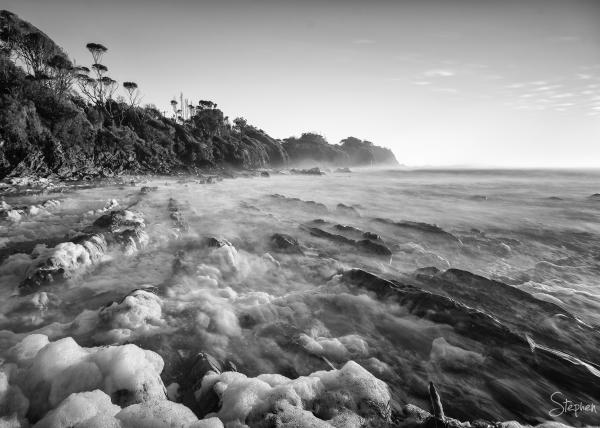 Long exposure from Joshs Beach at Dalmeny
