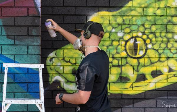 Co-Lab Science meets street art mural