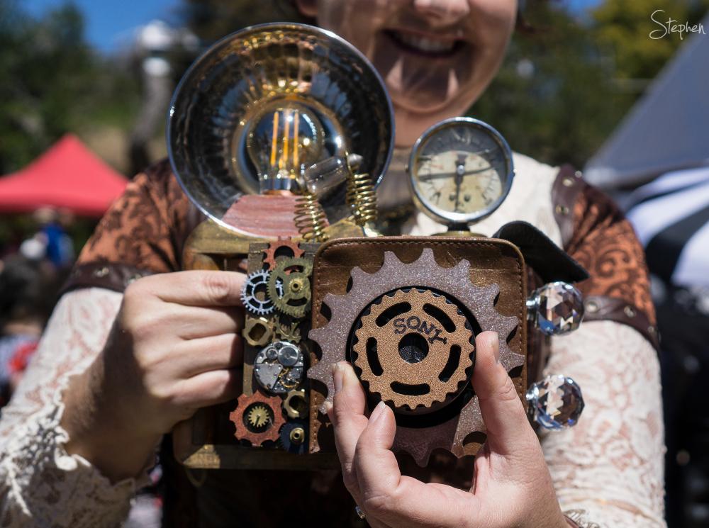 Steampunk camera at Steampunk Victoriana Fair
