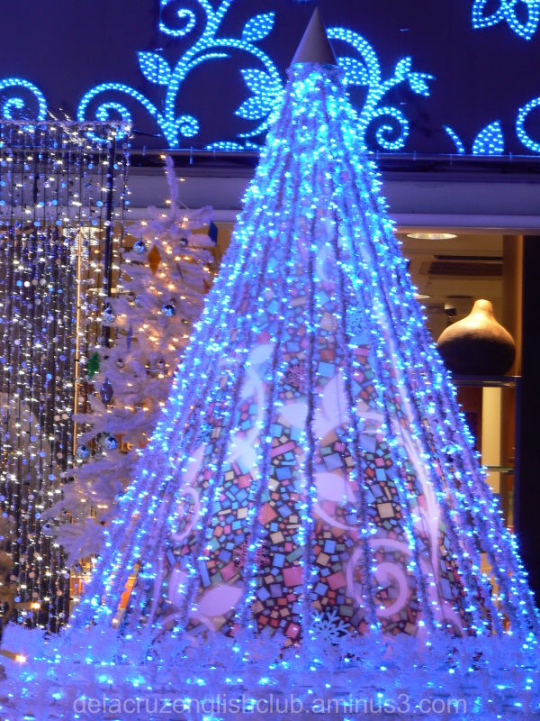 Christmas tree, illumination, lights, decorations