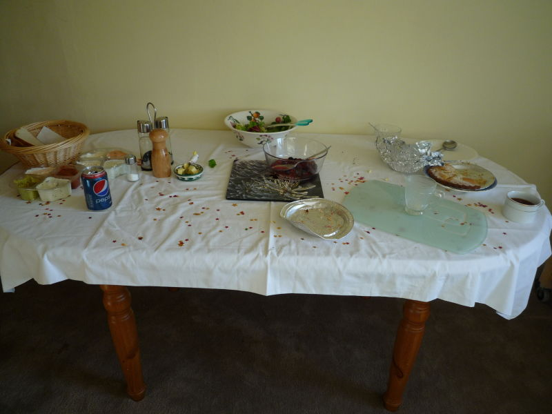 The remains of Helens buffet