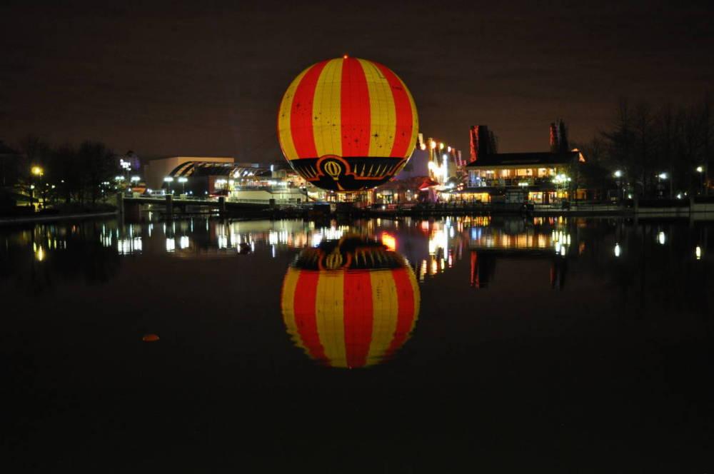 Disney Village At Night Time