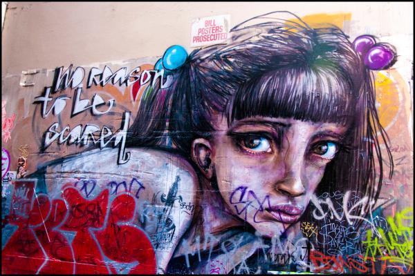 no reason to be scared graffiti unionlane