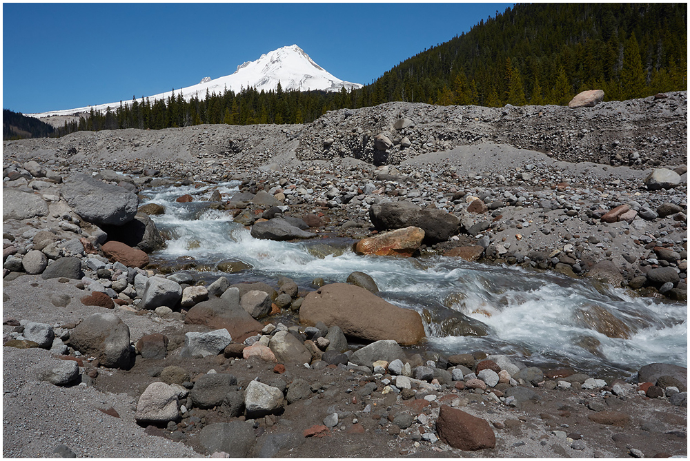 White river and Mt Hood