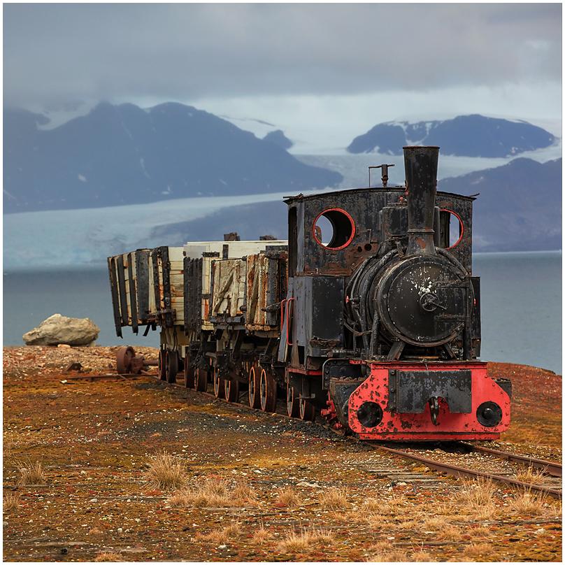Locomotive in Ny Alesund, Svalbard