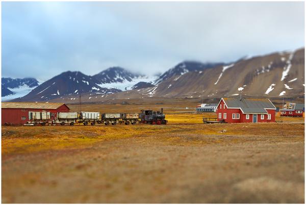 Train in Ny-Alesund, Svalbard