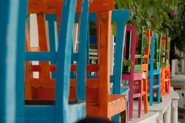 Restaurant, rest, seat, color, rainbow, alachati