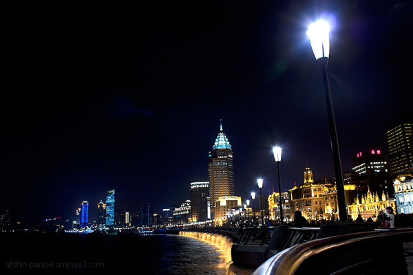 Shanghai, riverside, night life