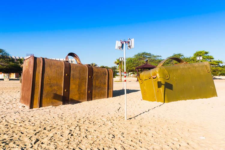Travel, Baggage, Kish, Beach, Statue