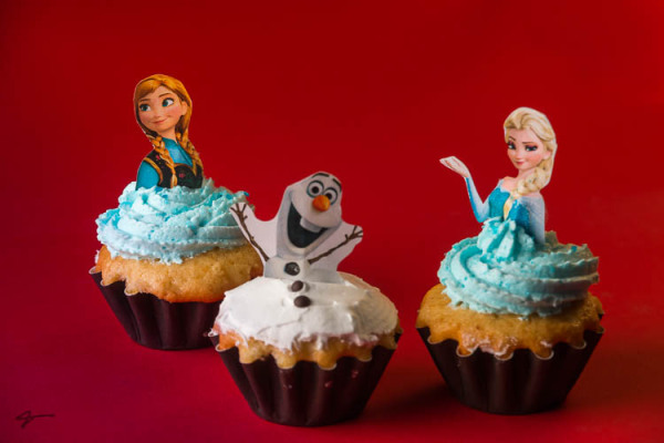 Frozen, Cup cake, Anna, Olaf and Elsa