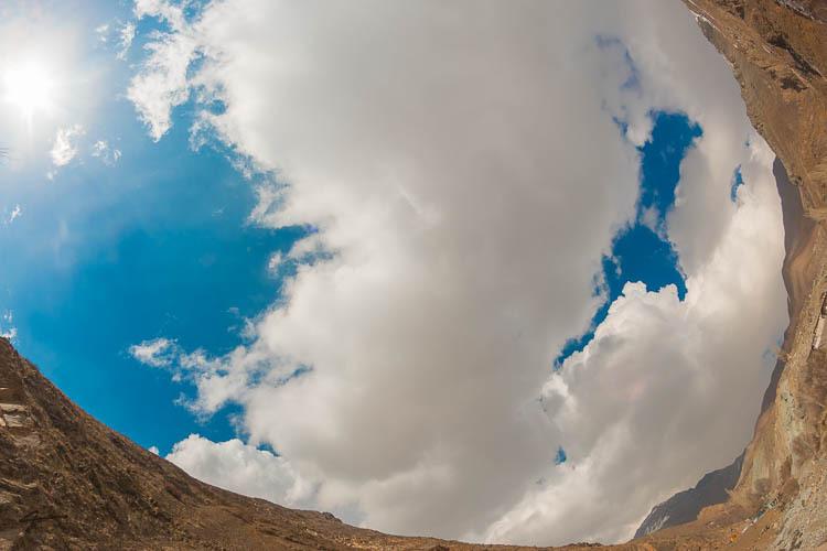 Blue Sky, Mountain, Lavasan, Afje, Fisheye